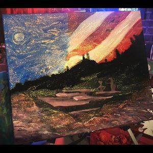"""Merica"" US Military acrylic Painting."